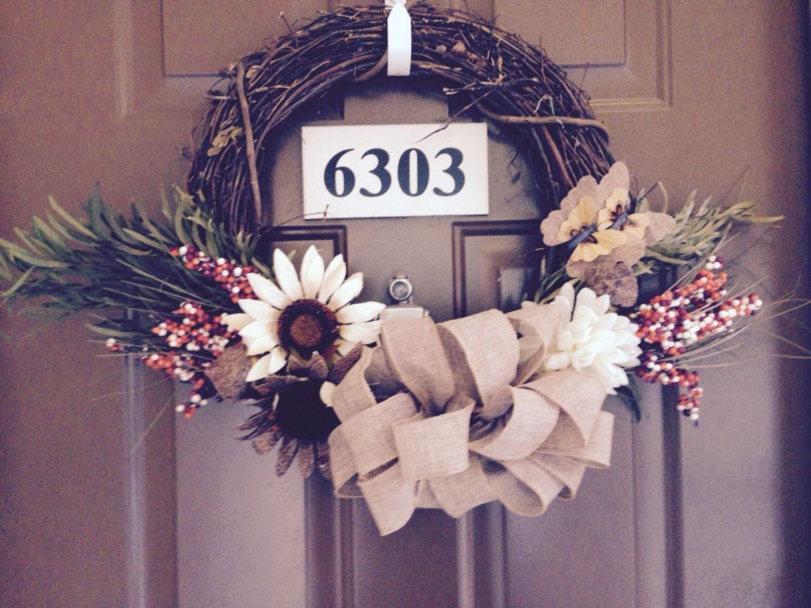 Fall wreath! Love:)