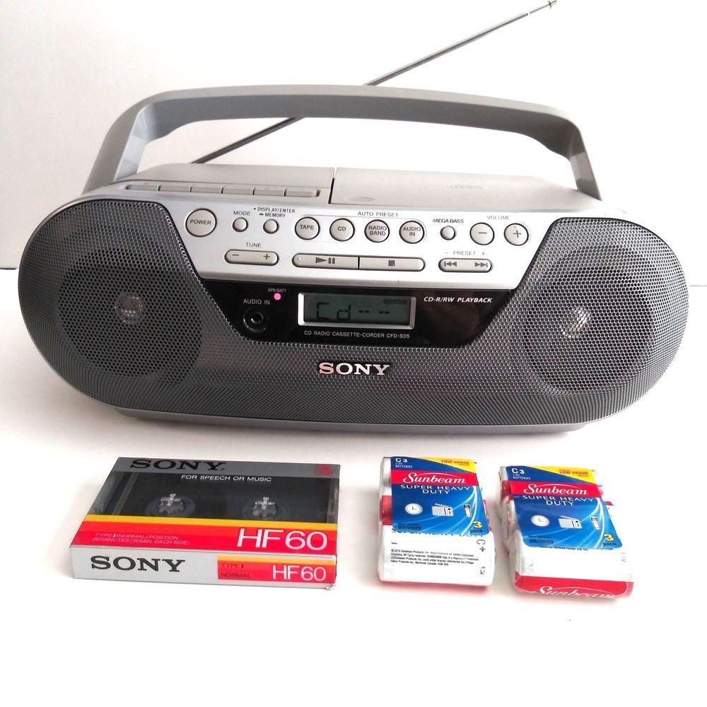 Sony CFD-S05 Radio Cassette Recorder Boombox Speaker CASSETTE NOT WORKING