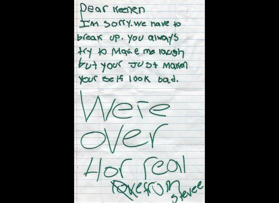 The Most Absurd Break-Up Letters Of All Time Giggle Pinterest - breakup letters
