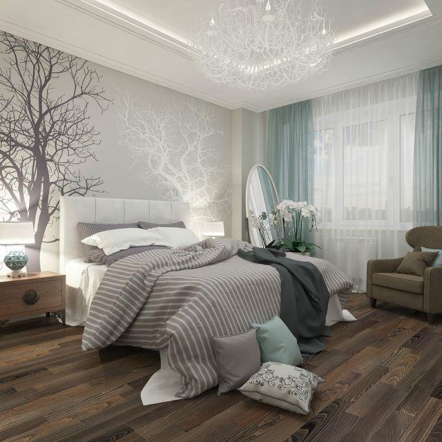 ideen schlafzimmer gestaltung grau weiß wandgestaltung fotomotive ...