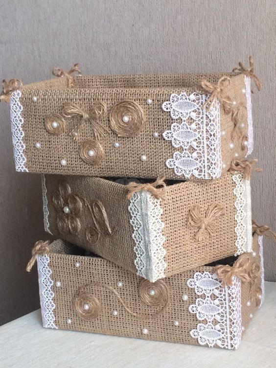 коробки и корзинки DIY