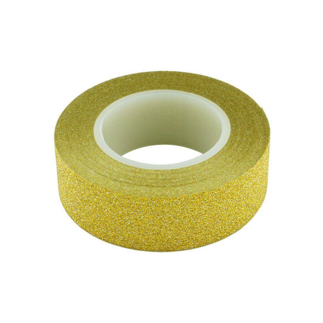 5M DIY Self-adhesive Glitter Washi Paper Tape Sticker Wedding ...