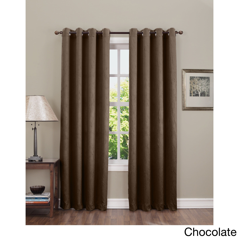 Sun zero uhansonu crushedfabric grommettop curtain panel black