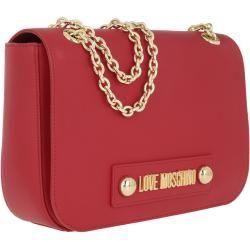 Love Moschino Chain Crossbody Bag Rosso in rot Umhängetasche für Damen Moschino