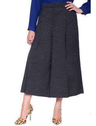 5eb68a0b79664 Studio Wide Leg Pleated Culotte from eloquii.com