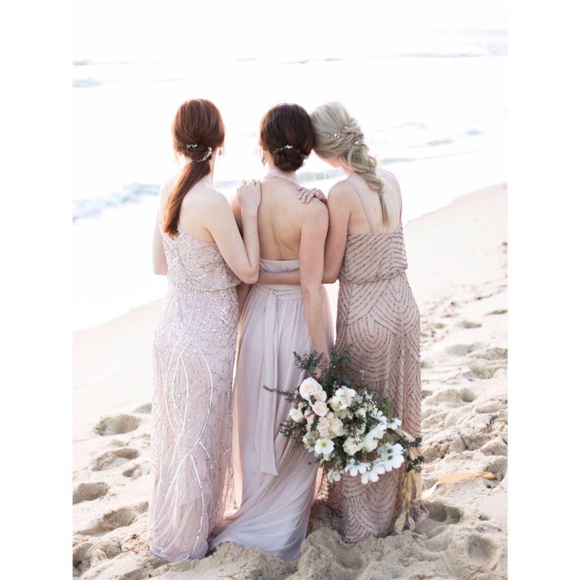 Blushing pink. Bridesmaids. Bridal Hair. Www.facebook.com ...