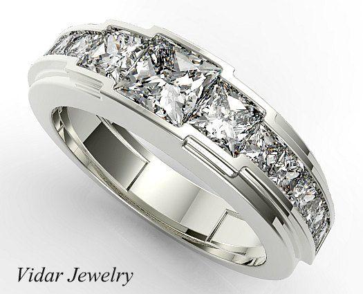 Men Wedding Banddiamond Men Wedding Bandunique Wedding Etsy Mens Diamond Wedding Bands Men Diamond Ring Mens Rings Wedding Diamond