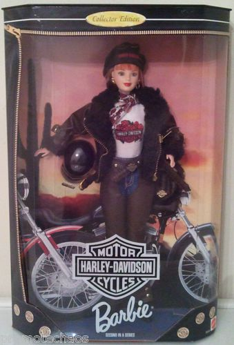 2nd Harley Davidson Motorcycles Barbie Redhead Leather Jacket Boots Mom Helmet | eBay FREE U.S. SHIPPING!!!