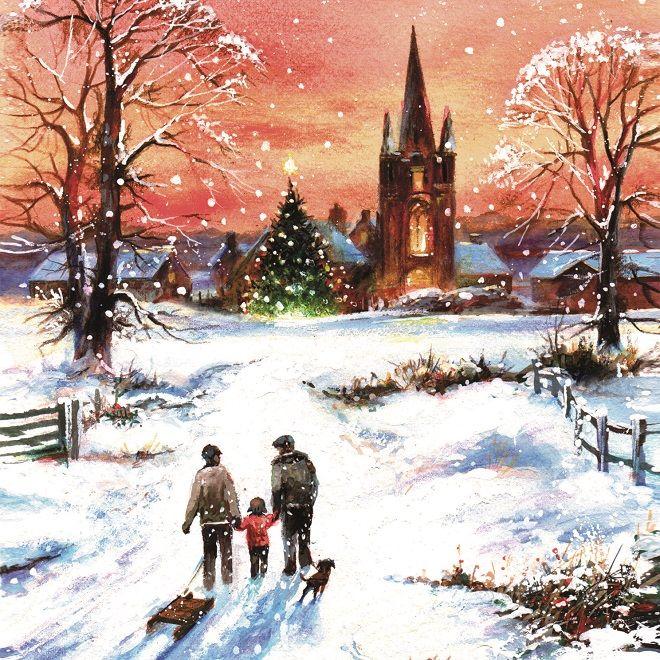 Winters Walk - Bilingual   Christmas cards   Macmillan Cancer ...