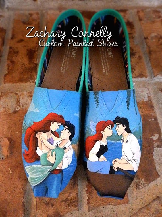 quality design 188d6 efe03 Disneys The Little Mermaid Toms Shoes by ZacharyConnellyArt