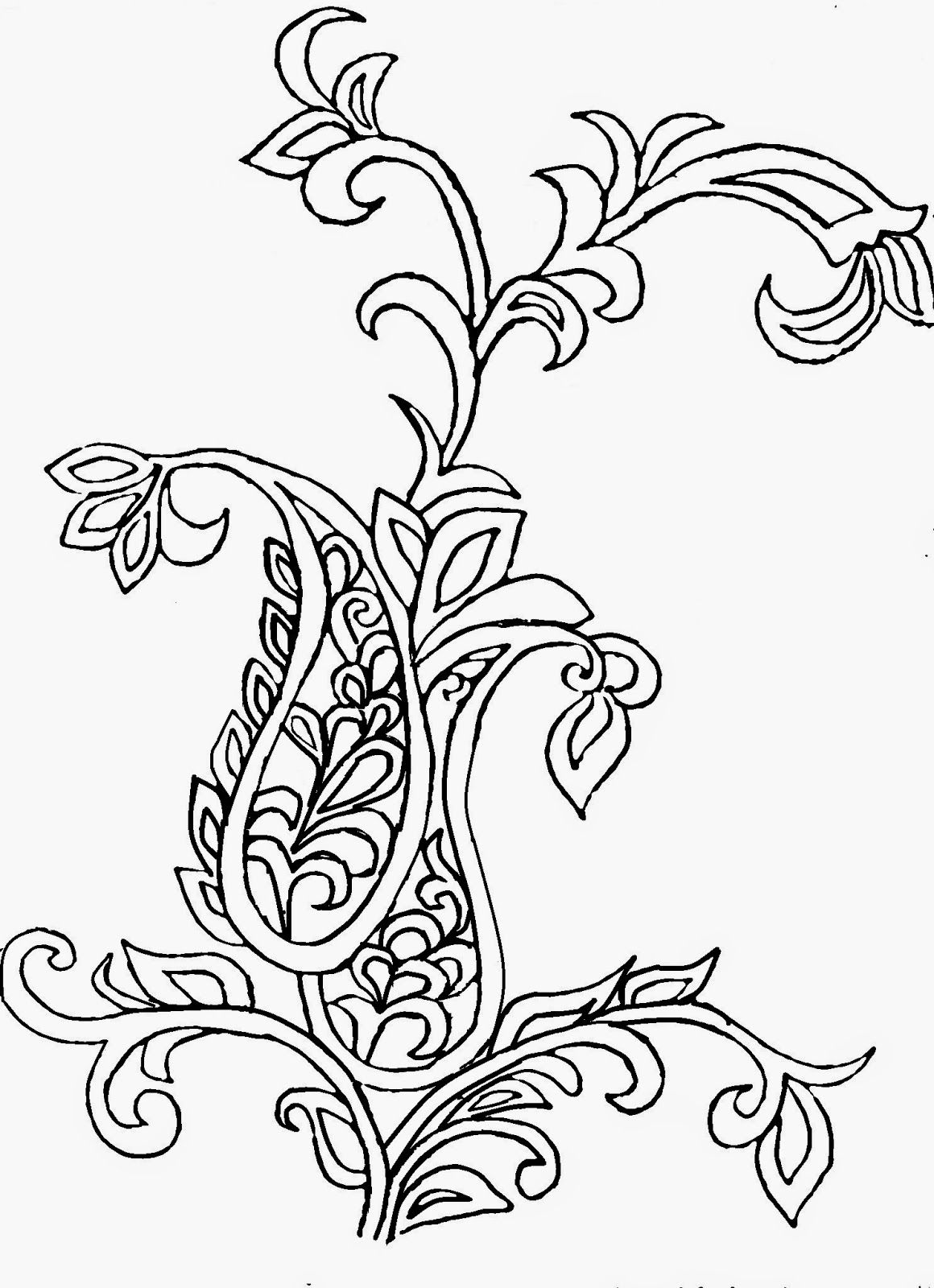 Paisley design for embroidery or painting. | Bordado | Pinterest ...