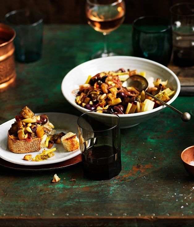 Caponata Recipe | River Cafe | Ruth Rogers | Gourmet Traveller #eggplant #Italian_Recipes #Sicilian
