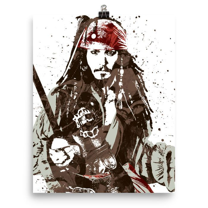 Jack Sparrow Pirates of the Caribbean Disney Movie Poster