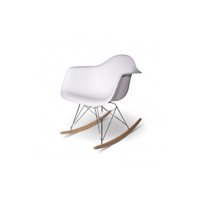 Chaise Design Rar Blanche à Bascule - Achat / Vente chaise Blanc ...