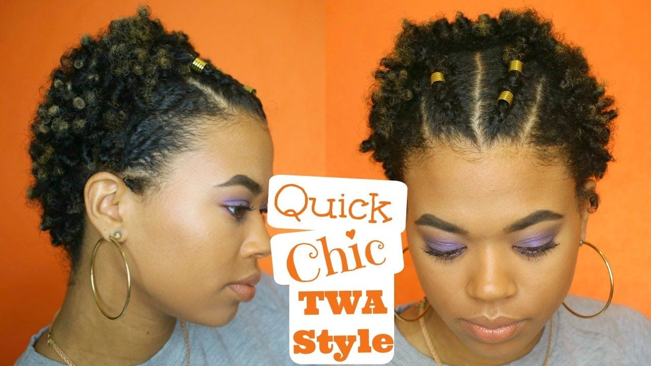 Quick Chic Twa Style Easy Type 4 Natural Hair Natural Hair Twa Twa Hairstyles Short Natural Hair Styles