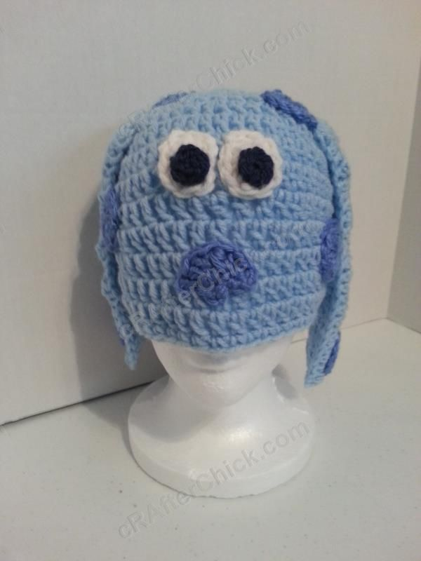 Blues Clues Puppy Character Beanie Hat Crochet Pattern Worn ... 0e95aed56a2