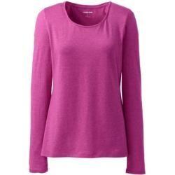 Women's long sleeves & long sleeve shirts -  Cotton / modal blend shirt, ballet neckline – Pink – 40-42 from Lands' End Lands' End - #90sRunwayFashion #amp #long #RunwayFashion2020 #RunwayFashionaesthetic #RunwayFashionchanel #RunwayFashioncrazy #RunwayFashiondior #RunwayFashiondresses #RunwayFashionvogue #RunwayFashionwomen #shirts #Sleeve #sleeves #Women39s