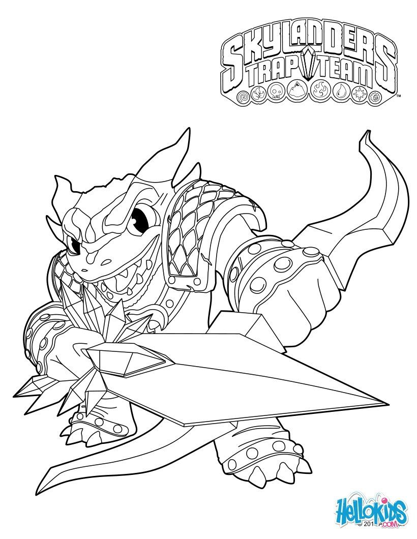 snap shot coloing page from skylanders trap team more video games coloring pages on hellokids