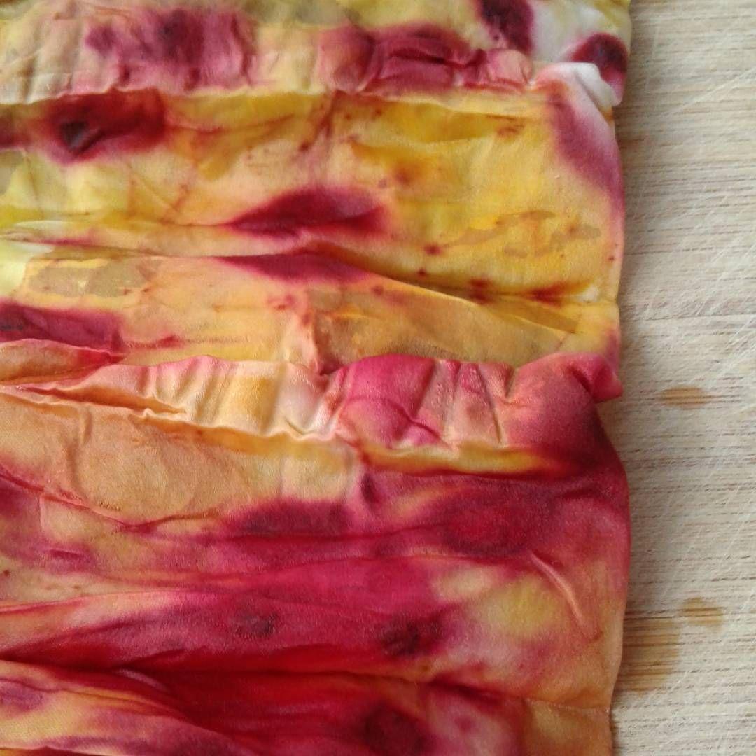 Cebolla y cochinilla #ecoprint #teñido #tintesnaturales #cebolla #cochinilla #dye #naturaldye #cochineal #onion