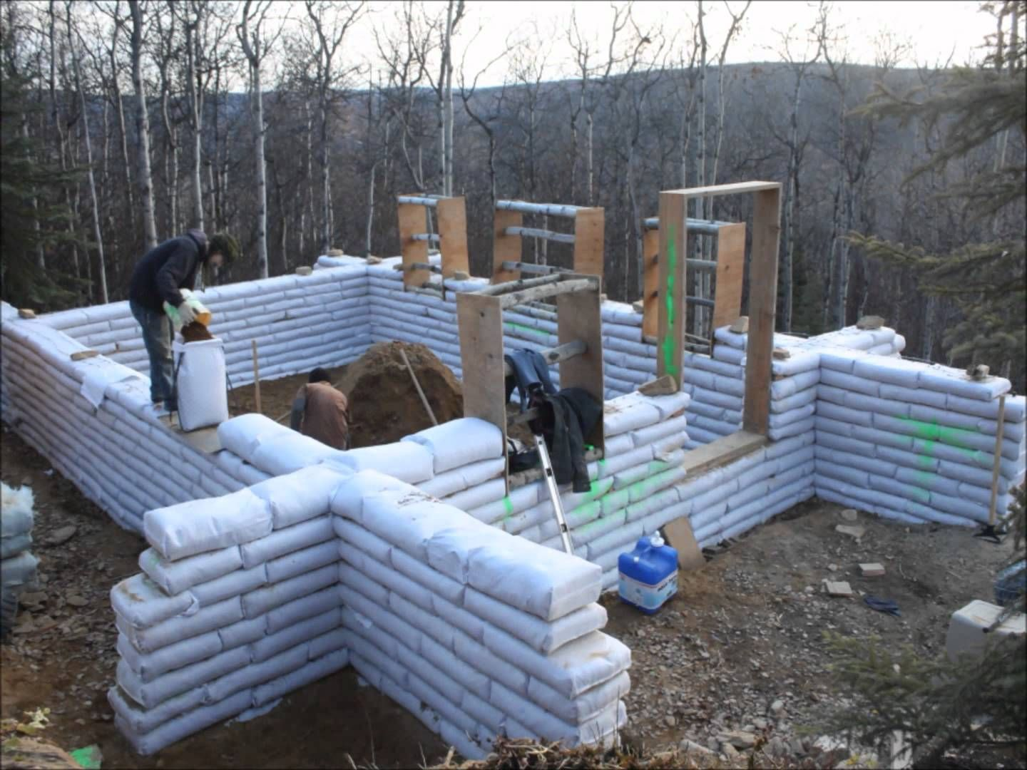 Watch us build an earthbag house in fairbanks ak music for Home builders alaska