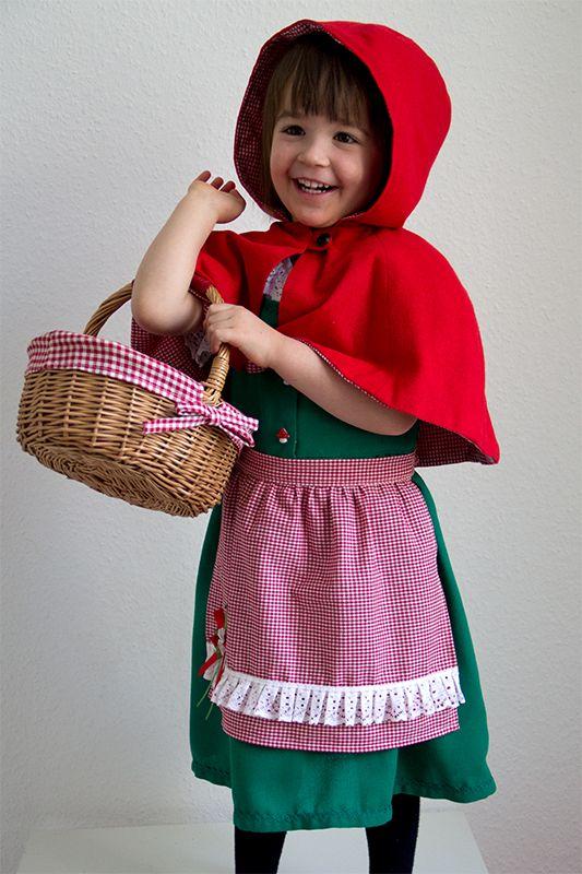 Rotkäppchen Kostüm für Kinder nähen | Kostüme | Pinterest ...