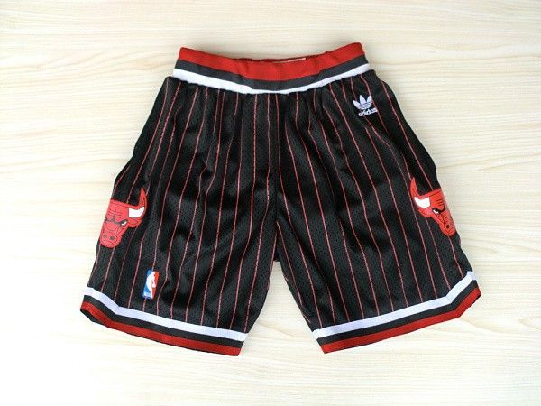 Men/'s Chicago Bulls shorts Scottie Pippen Dennis Rodman Basketball pants Black