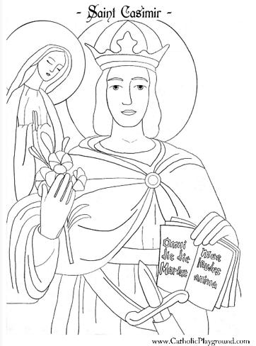 St Joseph Coloring Page For Kids To Colour Coloriage Saint Menuisier