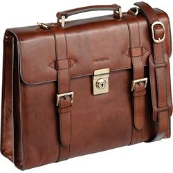 6649167e3 Enzo Rossi Buckled flap over briefcase in italian leather Italian design  made from genuine leather.