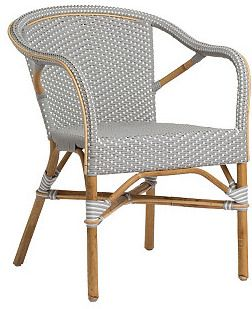 High Quality SIKA DESIGN A/S Madeleine Outdoor Bistro Armchair, Gray