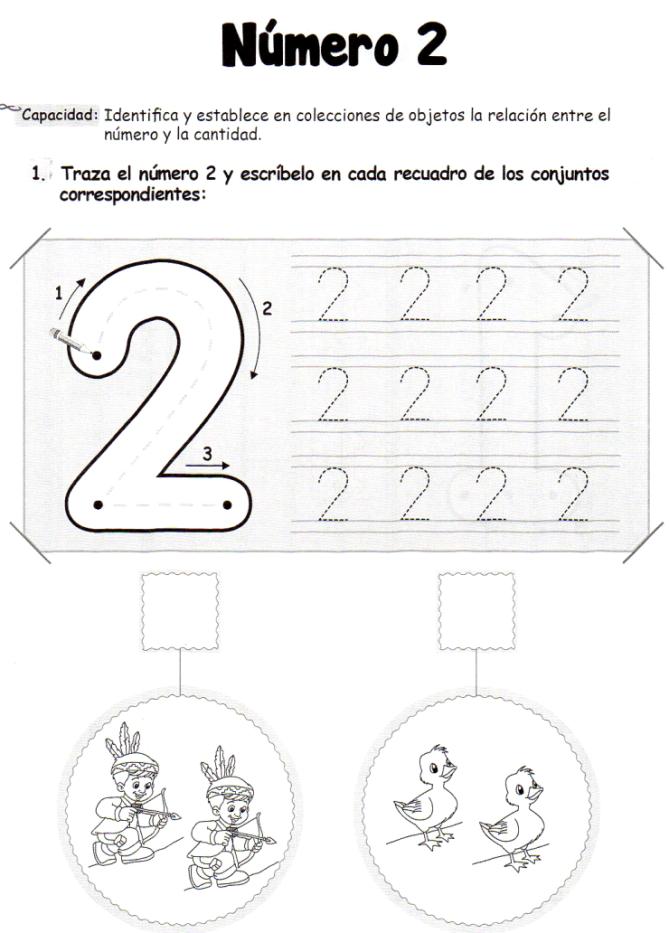 El número 2: 5 años - Material de Aprendizaje | números | Pinterest ...