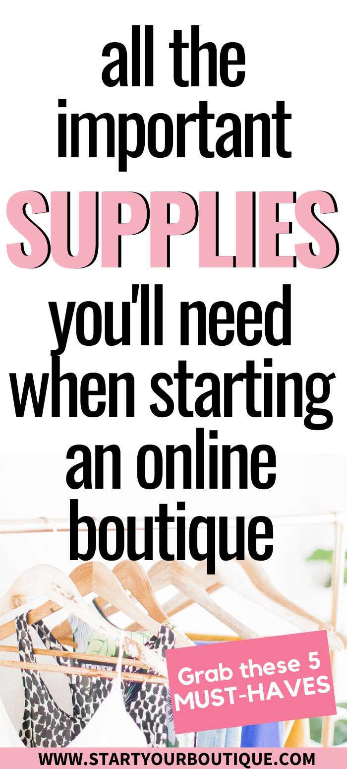 Supplies for Online Boutique