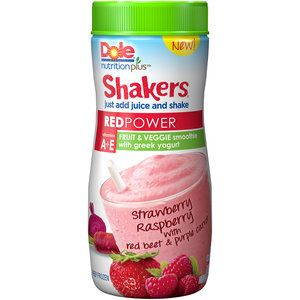 Dole Nutrition Plus Shakers Red Power Fruit & Veggie Smoothie, 3.75 oz