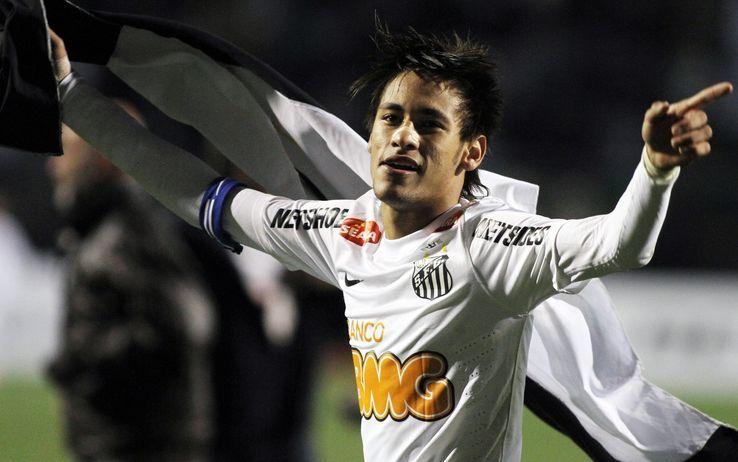 Neymar, fenomeno del Santos