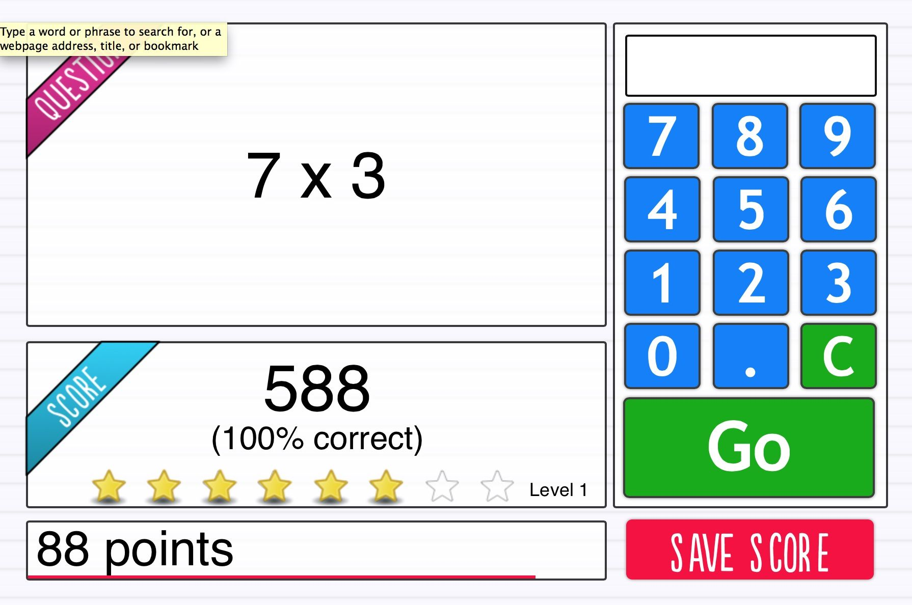 I Can Recall The 3 Times Table Up To 3 X 10