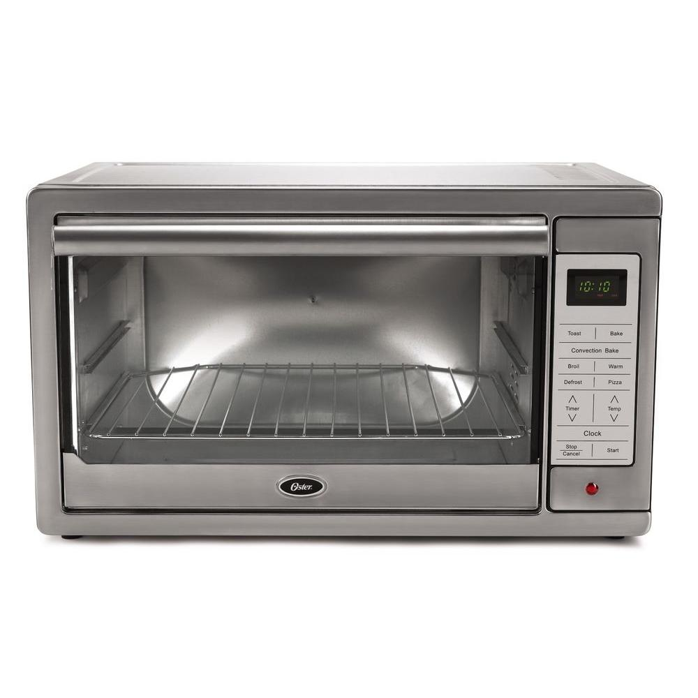 Oster 1500 W 4 Slice Brushed Stainless Programmable Toaster Oven Digital Toaster Oven Toaster Stainless Steel Oven