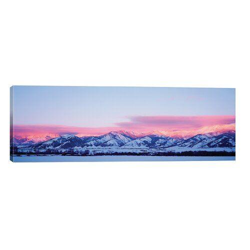 'Bridger Mountains, Sunset, Bozeman, MT, USA' Photograph