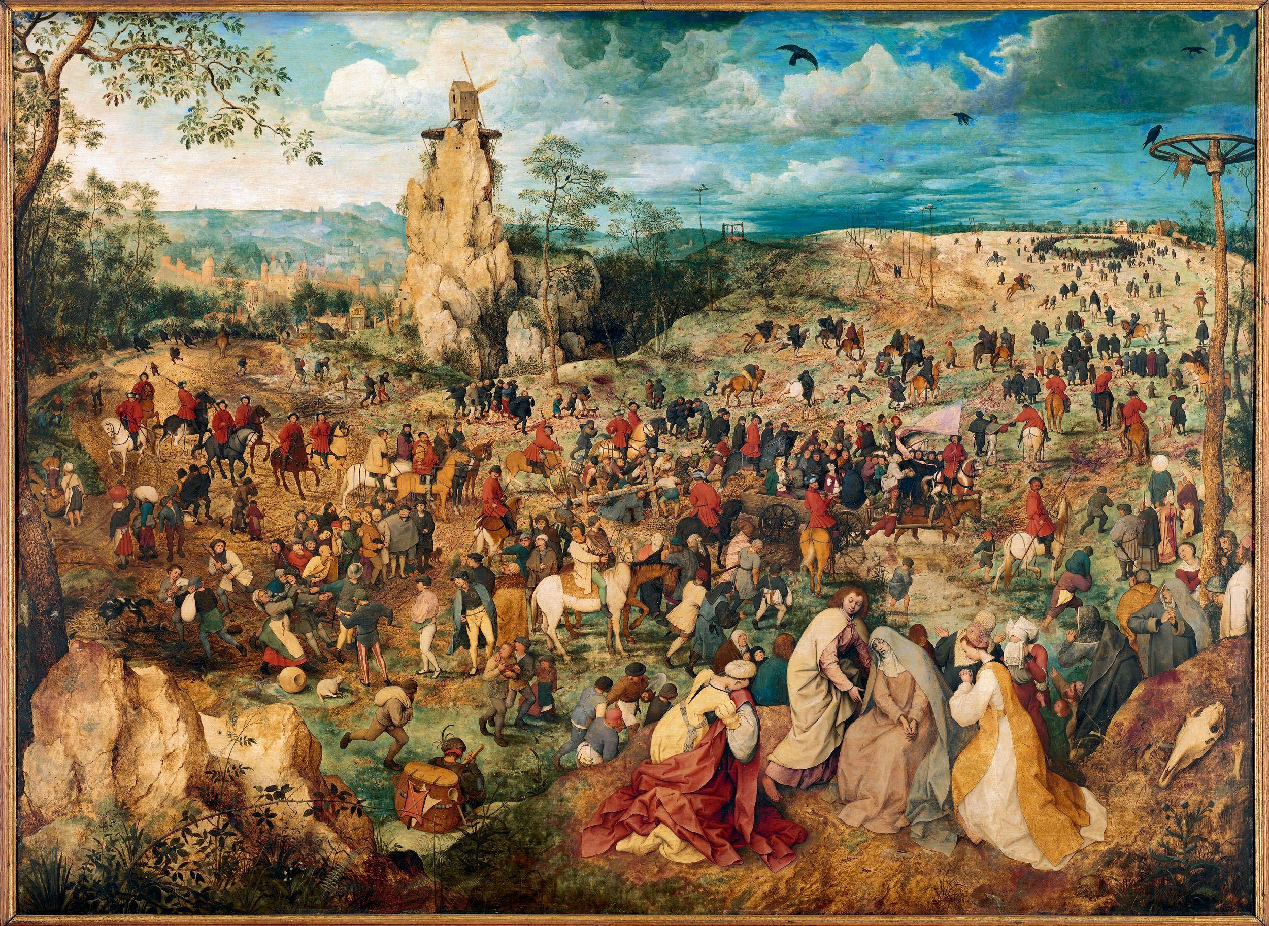 ピーテル・ブリューゲル(父)(Pieter Bruegel de Oude)「十字架を担うキリスト(The Procession to Calvary(」ウィーン美術史美術館