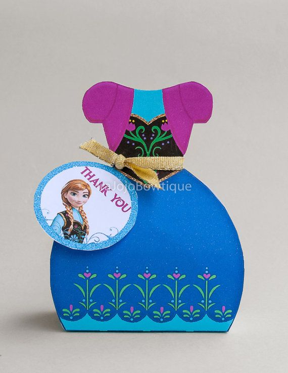 NEW ANNA Frozen Gift Box Favor Box Printable by IraJoJoBowtique