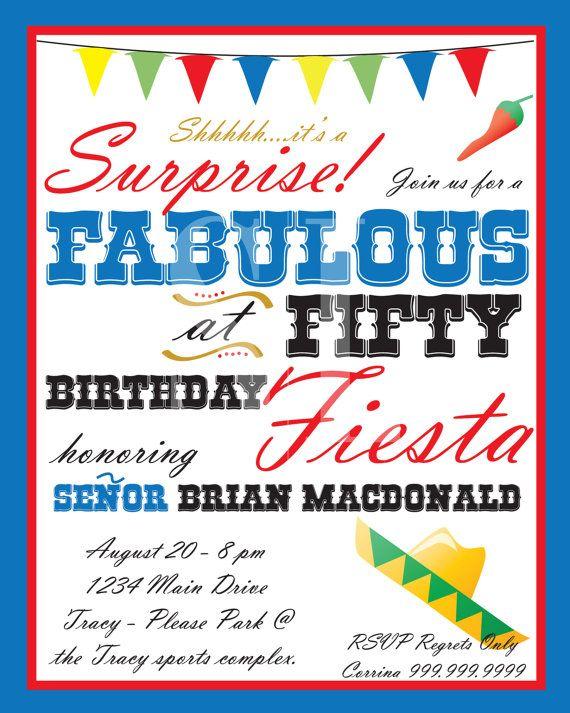 Fiesta Party Invitation Via Etsy Birthday Party Invitations