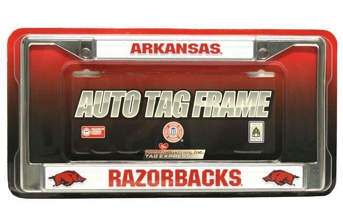 Arkansas Razorbacks Chrome License Plate Frame