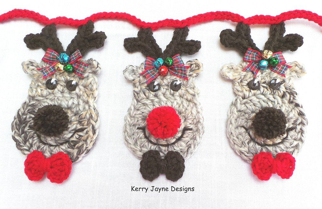 Reindeer bunting Crochet Pattern | ♥ Amigurumi!! ♥ Community Board ...