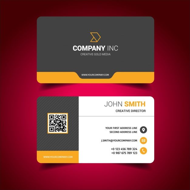 Business card design free vector business card design for Create and print business cards