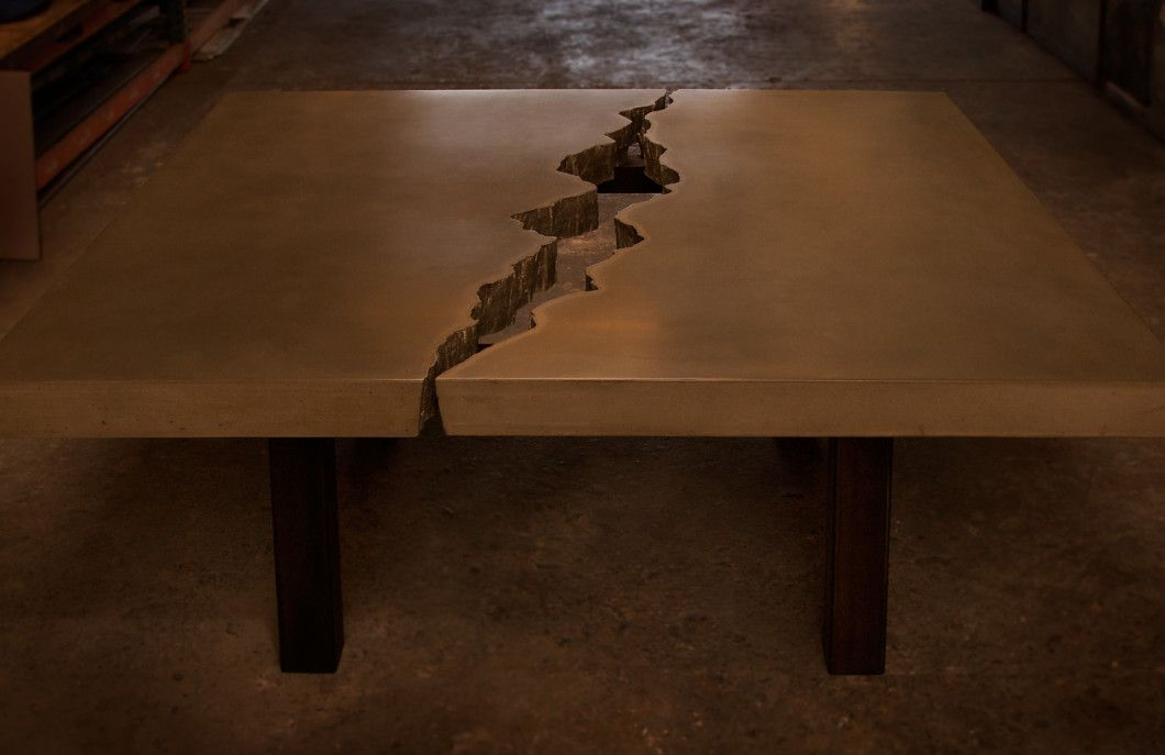 Cracked Concrete Dining Table Cement Table Commercial