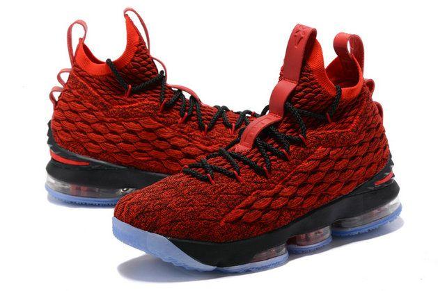 a978f7692f7328 Nike LeBron XV EP 15 Mens Original Basketball Shoes Bright Red Black White