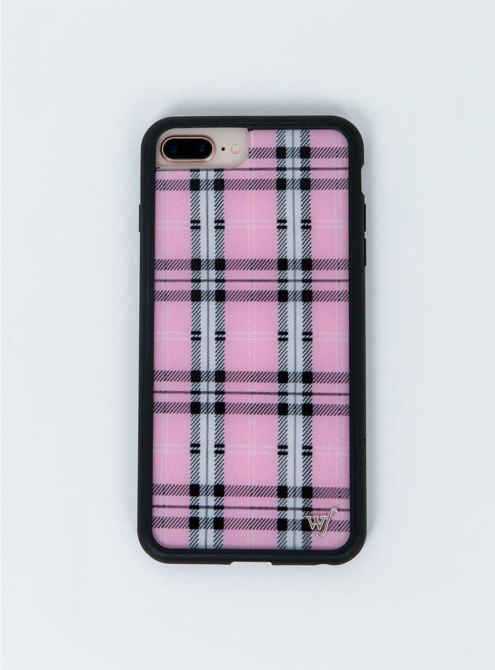 Wildflower Pink Plaid Iphone 6 7 8 Plus Case Princess Polly