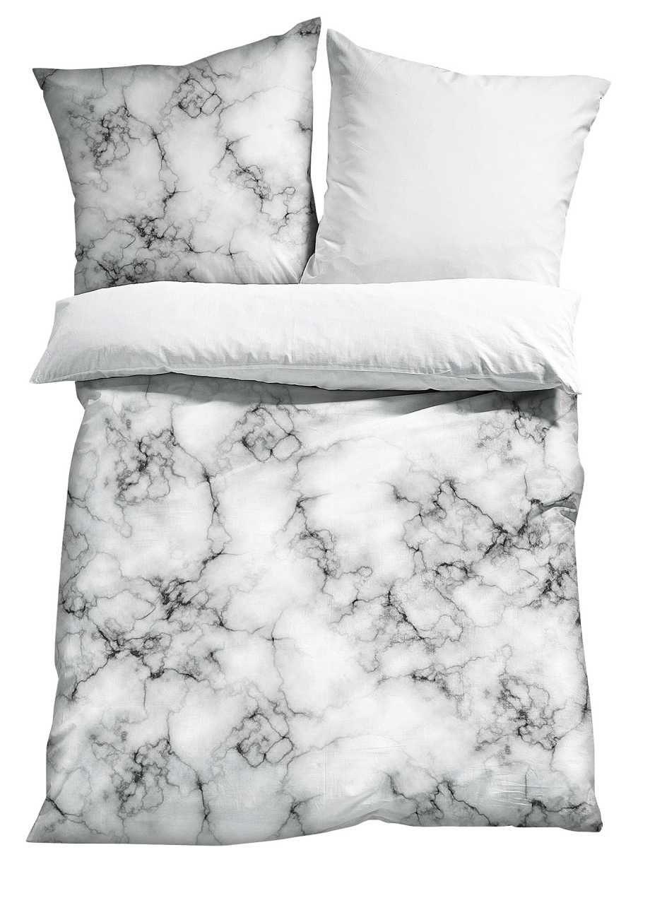 """bettwäsche """"marmor"""", bpc living, grauweiß   home inspirations, Schlafzimmer entwurf"""