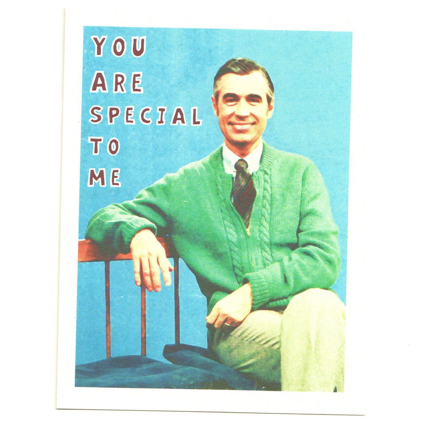 Mister Rogers Valentine You Are Special To Me Funny Valentine Card 3 75 Via Etsy My Funny Valentine Mr Rogers Funny