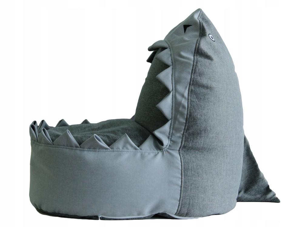 Pufa Worek Sako Dla Dziecka Rekin Szary 320 7828990236 Allegro Pl Kids Sofa Kids Bean Bags Bean Bag Chair