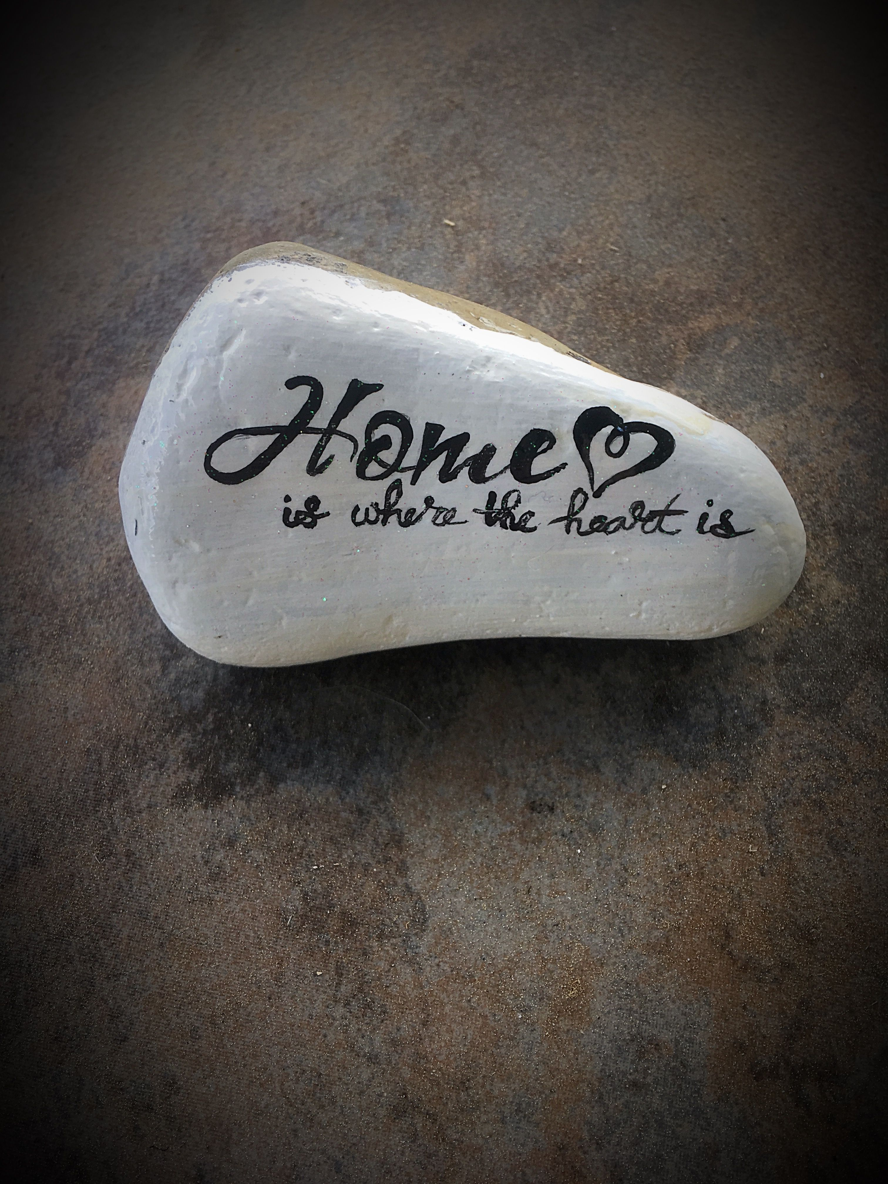 Rock Painting Challenge Of The Day Home Quote Home Is Where