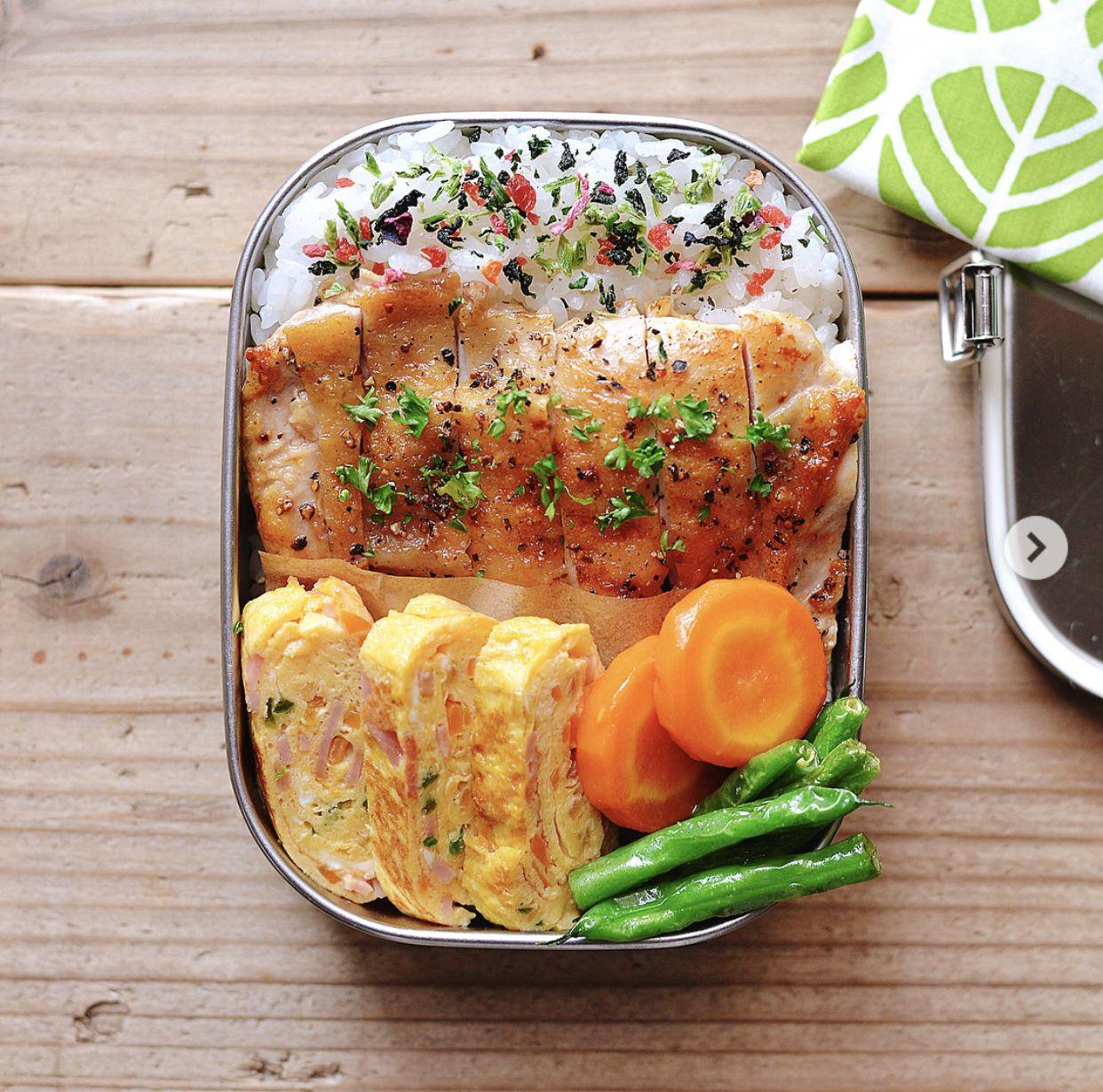 Grilled chicken bento #bentoboxlunch